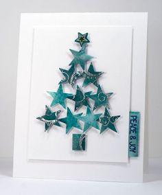 Read information on Handmade Christmas Card Ideas Christmas Card Crafts, Homemade Christmas Cards, Christmas Cards To Make, Homemade Cards, Handmade Christmas, Holiday Cards, Christmas Decorations, Christmas Stars, Christmas Holiday
