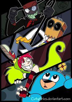 Fanart - Villainous by CutyAries Cartoon Crossovers, Cartoon Characters, Cartoon Network Fanart, Memes Arte, Hat Organization, Villainous Cartoon, No Name, Cartoon Shows, Disney Fan Art