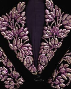 """Elsa Schiaparelli, handwork over a filling to give the embroidery its """"bombé""""."""