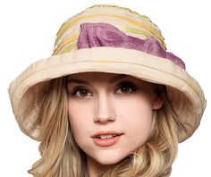 ade2a8b518d UV striped sun hats for women with bow summer hats sunscreen necessary
