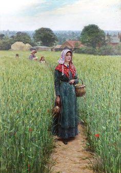 Эдмунд Блэр Лейтон (1853-1922, Англия) - Обеденный час