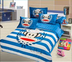 2014 Best Kids Cotton Bedding Sets 4pcs Cartoon Bedding set Cotton include Duvet Cover Bed sheet Pillowcase Cotton Bedding Sets, Best Bedding Sets, Toddler Girl Bedding Sets, Paul Frank, Bed Sheets, Cool Kids, Comforters, Duvet Covers, Pillow Cases