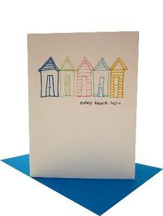 beach huts gift card - SALE £2.00
