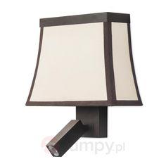 Materiałowa lampa ścienna LED Fancy ze spotem 6026573