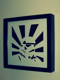 Star Wars stormtrooper framed papercut - Folksy