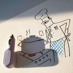Este artista convierte las sombras de objetos cotidianos en divertidas ilustraciones