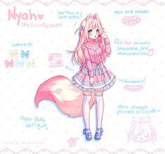 Commission - Nyah Design by Hyanna-Natsu.deviantart.com on @DeviantArt