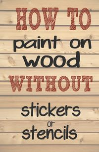 How to paint letters and words on wood without needing stencils or stickers. - How to paint letters and words on wood without needing stencils or stickers. Making those professi - Diy Wood Signs, Rustic Signs, Wooden Pallet Signs, Writing On Wood Signs, Paint Wood Signs, Homemade Wood Signs, Pallet Board Signs, Reclaimed Wood Signs, Paint Pens On Wood