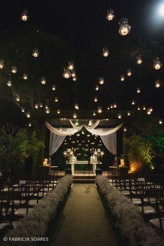 25 Outdoor Night Wedding Ceremony For Romantic Wedding Night Wedding Ceremony, Outdoor Night Wedding, Starry Night Wedding, Outdoor Ceremony, Wedding Ceremonies, Outdoor Weddings, Night Time Wedding, Night Wedding Lighting, Night Wedding Decor