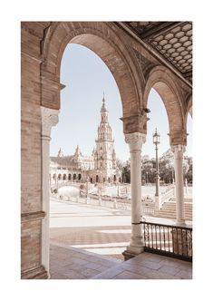 Image Desert, Seville Spain, Online Posters, Plaza, Abu Dhabi, Arches, Scandinavian Design, Pink Color, Barcelona Cathedral