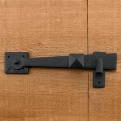Rustic Hand-Forged Iron Gate Rim Latch
