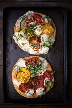 Heirloom Tomato Pizza Margherita | Slim Palate