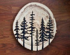 Wood Burning Stencils, Wood Burning Tool, Wood Burning Crafts, Wood Burning Patterns, Wood Burning Projects, Tile Projects, Pyrography Designs, Pyrography Patterns, Pine Tree Silhouette