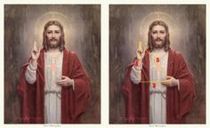 """Sacred Heart of Jesus Christ"" by Charles Bosseron Chambers (1882 – 1964)"