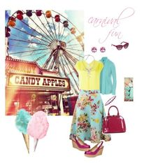 """""""carnival fun"""" by caitlin-ross-1 on Polyvore featuring Polaroid, ibex, Forte Forte, Blumarine, Stuart Weitzman, Roberto Cavalli, NOVICA, Amour and Relaxfeel"""