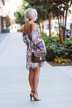 Blondie in the City | Paisley Print Dress | Louis Vuitton Pochette Metis Bag…