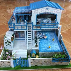 Mô Hình Nhà DIY Thu Nhỏ - Mô Hình Nhà Gỗ DIY Thế Giới Tí Hon
