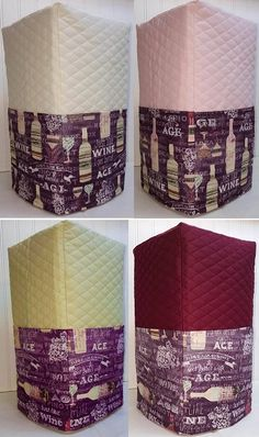 Check out this item in my Etsy shop https://www.etsy.com/listing/241827258/quilted-purple-wine-cuisinart-14-cup