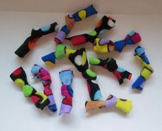 Tie Catnip inside fleece material.. simple cat toy!  - for sale on Bonanza.com @mrsdinkerson