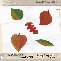 Handpainted Leaves