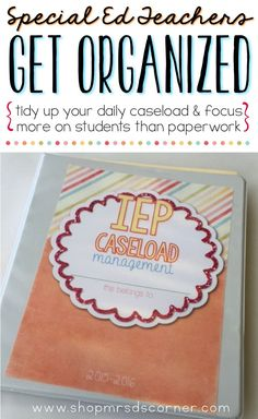 Feeling stressed out and unorganized? I understand! Being a special education teacher is a wonderful experience that, unfortunately, includes tons paperwork that can sometimes become overwhelming. Not anymore! This special education binder is your key to tidying up your daily caseload and focusing more on your students, rather than the paperwork.