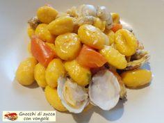 Gnocchi+di+zucca+con+vongole.+Che+guduria!