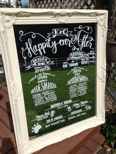 You can use a FRAMED MIRROR simply for the sake of adding the pop of color - whether you paint the frame gold or neon - either would come handy for your vision. You can use the mirror for your MENU, your CEREMONY PROGRAM, SIGNAGE of ANY KIND, TABLE ASSIGNING, etc.!!