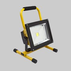 Portable LED floodlight that's great for traders on the go. Take with you to light up a room. Lasts up to 4 hours per charge.
