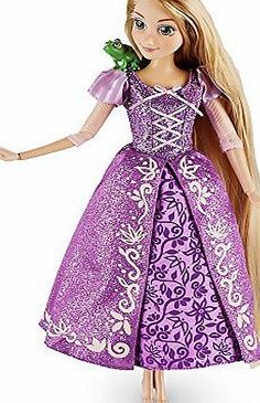 Disney Store 2016 Rapunzel Classic Doll with Pascal Figure - 12`` Like Rapunzel, your young princess can truly let her hair down when she plays with this Classic Doll. A tower of art in her glittering purple gown, the Tangled heroine is (Barcode EAN = 0797162728780) http://www.comparestoreprices.co.uk/december-2016-week-1-b/disney-store-2016-rapunzel-classic-doll-with-pascal-figure--12.asp