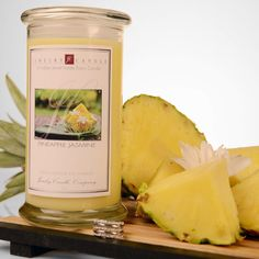 Our Pineapple Jasmine Jewelry Candle is the scents of a creative blend of top notes of ripened pineapples, pears, and apples; middle notes of ferns and clover; bottom notes of jasmine and rose petals. Smells absolutely amazing great for the spring and summer time in your home!