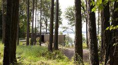 A Puget Sound Cabin That Rests Lightly on the Landscape: Remodelista weathered cedar exterior