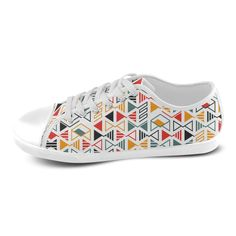 MBI Pattern Color Cool And Cute Design Custom Artsadd Canvas Shoes for Women(Model016)