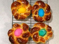 """How clever is this Italian Easter Bread posted by Michelle at justapinch.com. When you sit down to Easter Dinner you won't have to tell your child twice to, """"Eat your bread,"""" with this delicious #Easter #recipe."""