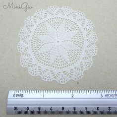 Miniature crochet round doily 3 inches dollhouse crochet
