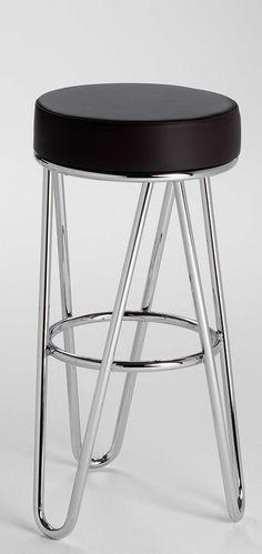 Chromed Tubular Steel and leather Stool for Thonet, Metal Furniture, Vintage Furniture, Furniture Design, Furniture Ideas, Bedroom Furniture, Modern Furniture, How To Clean Furniture, Classic Furniture, Furniture Cleaning