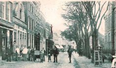 The Molenstraat in Den Helder, Holland Taken in approximately turn of the century 1900.  My grandmother lived at Molenstraat 152