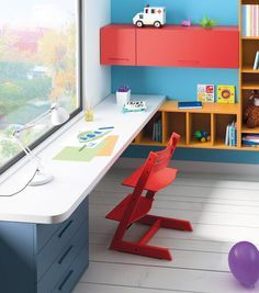 ways to show off your wall art than simply hanging a picture on a blank wall. Personalise plain walls with these fun and fabulous ideas for children's rooms. Boy Room, Kids Room, Kids Workspace, Study Table Designs, Kids Play Spaces, Kids Furniture, Girls Bedroom, Room Decor, Decoration