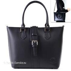 Czarna torba damska A4 z ozdobnym zapięciem z przodu. Zobacz więcej http://torebki-damskie.eu/skorzane/1371-skorzana-torebka-z-ozdobnym-zapieciem-czarna-a4.html