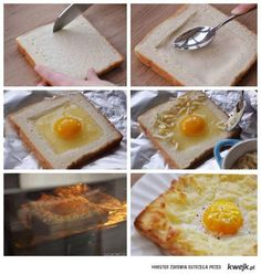 Don't know what to eat for breakfast or looking for breakfast sandwich recipes? Why not try this egg cheese sandwich breakfast recipe? The image from gigacircle I Love Food, Good Food, Yummy Food, Yummy Yummy, Breakfast Dishes, Breakfast Recipes, Breakfast Ideas, Breakfast Toast, Perfect Breakfast