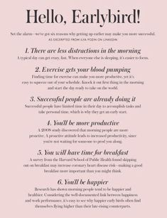 Early Bird Quotes Motivation Morning Person 67 Super Ideas You are in the 5am Club, Motivacional Quotes, Mood Quotes, Getting Up Early, Study Motivation, Morning Motivation, Homework Motivation, School Motivation, Health Motivation