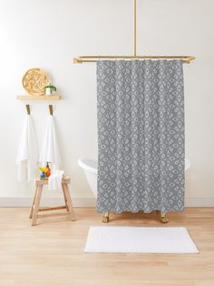 """Ultimate Gray #1"" Shower Curtain by Kettukas 