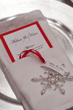 Snow flake place setting