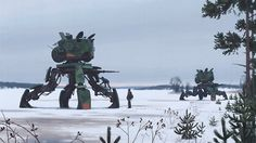 green ride-on craft illustration Simon Stålenhag science fiction Arte Sci Fi, Sci Fi Art, Digital Painter, Art Science Fiction, Sci Fi Kunst, Design Spartan, Steampunk, Colossal Art, Futuristic Art