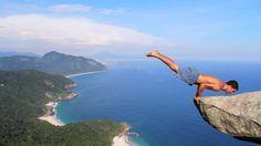Yoga at the top of a mountain in Rio de Janeiro, Brazil