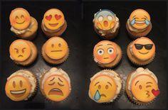 Emoji Fondant Cupcake Toppers by PeaceLoveandCakeNY on Etsy