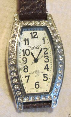 Vellaccio of New York Rhinestone Quartz Ladies Watch  - Water Resistant #Vellicco #Fashion