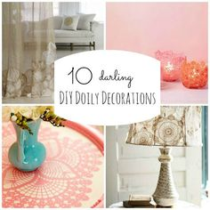 Pay homage to this Valentine staple with these DIY doily decorating ideas that will look lovely throughout the whole year. Description from babble.com. I searched for this on bing.com/images