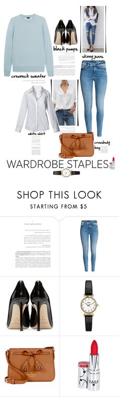 """Tried and True: Wardrobe Staples"" by emcf3548 ❤ liked on Polyvore featuring Jimmy Choo, Topshop, Kate Spade, Hard Candy, Joseph and wadrobestaples"
