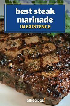 Steak Marinade Best, Best Grilled Steak, Spicy Steak, Marinated Steak, Recipe To Marinate Steak, Best Steak Sauce, Marinate Meat, Grilled Steak Recipes, Barbecue