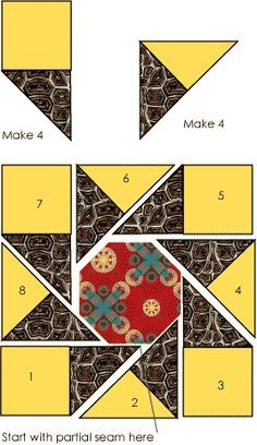 Waltzing Matilda quilt block pattern designed by Judy Martin. The pattern was first published in Judy Martin's Ultimate Book of Quilt Block Patterns, 1988. Instructions also on Oregon Coastal Quilters' Guild at http://www.oregoncoastalquilters.org/blocks/blocks-05-10-11.htm